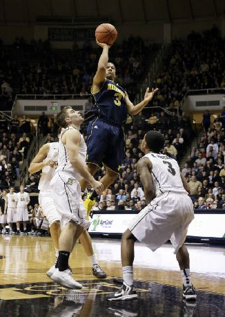 Trey Burke carried the Wolverines over Purdue with 22 second half points