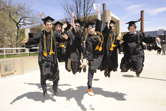 Michigan music school seniors celebrate their graduation in May 2011